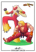 Ken x Blaziken - Pokemon x Street Fighter