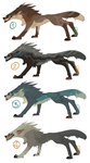 dA points flat sale wolves by LiLaiRa