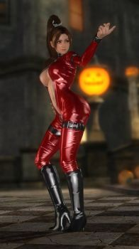 Mai Leather Catsuit Red 003 by DOA5lrScreenShots
