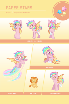 Paper Stars Reference Sheet by Centchi