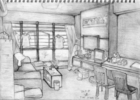Room Sketch by ChromeFlames