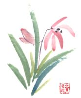 Chinese Painting: Orchids by veatariel