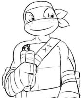 TMNT Mikey by TEWdrop