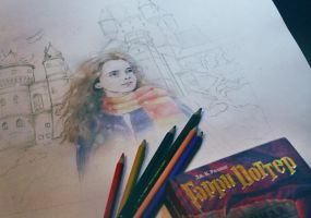 Hermione Granger sketch by Michelle-Winer