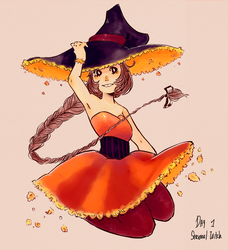 day 1: Seasonal Witch by Lamare69