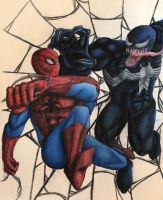 Spider-Man vs. Venom by swiftcross