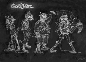 Inverse Colored Gorillaz by DigitalApparatus
