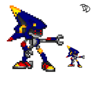 Rocket Metal Sonic Sprite by Des-the-Dragon