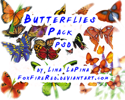 Butterflies PSD by FoxFireRed