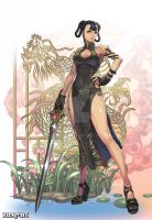 A Lady in Chinese Dress by reaper78