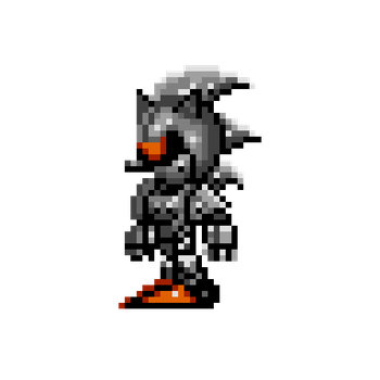 Miniature Silver/Mecha Sonic by Hex-01