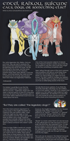On Entei, Raikou and Suicune