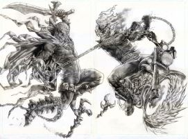 Spawn Vs GhostRider by wolfpact
