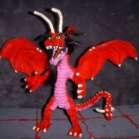 Flame Dragon Figure by the-gil-monster