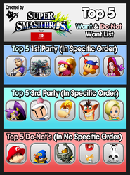 SSB Switch Top 5 Wants and Do-Nots (Updated) by whosaskin