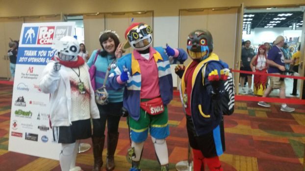 Indypop con 2017: frisk, geno, error, and fresh  by jroxs12
