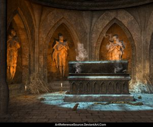 Free Stock Background:  Vampire Tomb by ArtReferenceSource