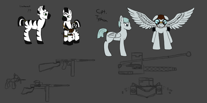 Officer OCs WIP by GeneralRex