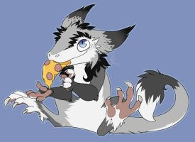 Commission chibi-Sergal and pizza by TayraWhite