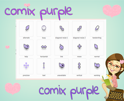 cursor comix purple by tutorialslucy