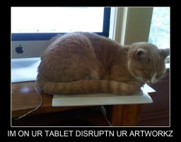Tablet Cat by orogirl333