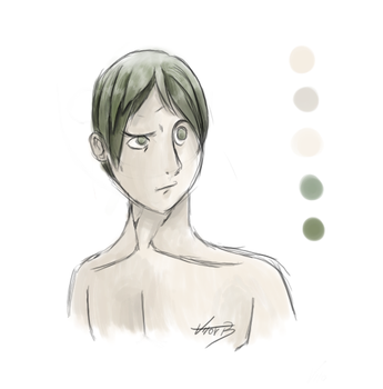 Green Hair Dude by Be-Toru