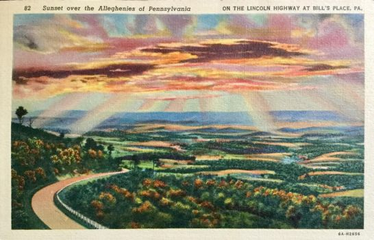 Vintage Pennsylvania - Sunset over the Alleghenies by Yesterdays-Paper