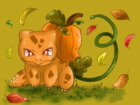 Pumpkin-saur by AmandaMandaPanda