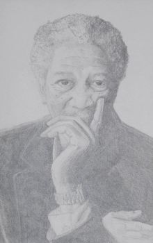 Morgan Freeman by John-Coltrane