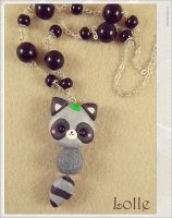 Clay Flurry Raccoon Gray by LolleBijoux