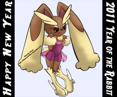 Mobius- Lopunny by TheSnowDrifter