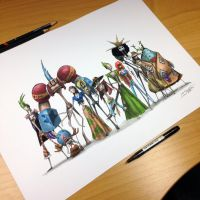 One Piece Creepy Drawing by AtomiccircuS