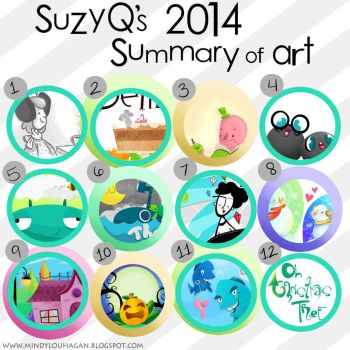 2014 Summary of Art - Year in review by SuzyQ2pie