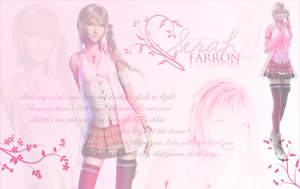 Serah Farron Wallpaper by OmniaMohamedArt