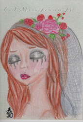 The Jilted Bride ACEO by MissFionaBArt