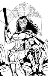 Huntress Inks by Talandir