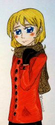 aph: Shy smiling OuO by LoveEmerald