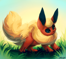 Flareon by TheQueenOfNeckbeards