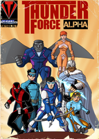 Thunder Force Alpha- Anthology Cover by payno0