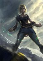 Android 18- battle by iVANTAO