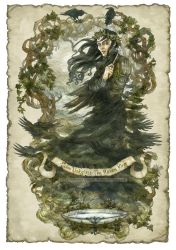 John Uskglass, the Raven King crowned in ivy by BohemianWeasel