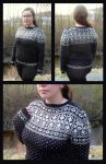 Oppdal traditional fair-isle sweater by KnitLizzy
