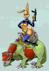 Bunny Cavalry by curtsibling