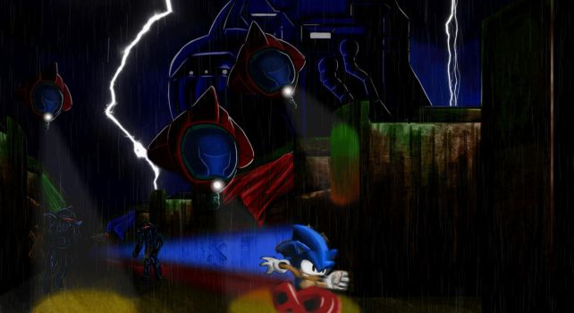 Sonic The Hedehog Mattepaint (Animated) by diegoloucofeliz