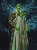 Frankenstein and Bride by JeffLafferty