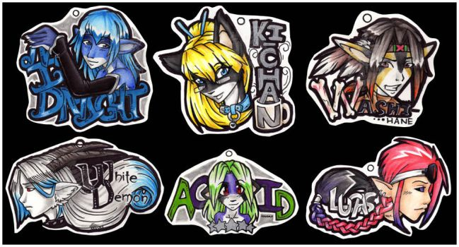 ConBadge Trade - Set 1 by Nanuka