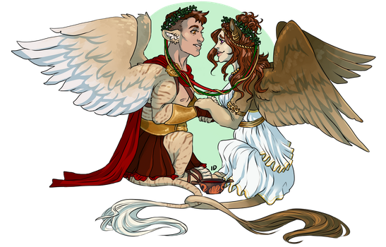 [C] Thaddeus and Korrina by Gembone