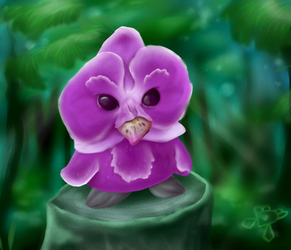 Orchid Owl by DiamondDiancie10