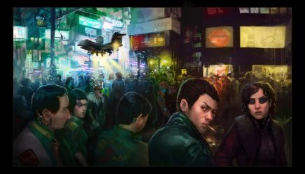 Neuromancer - CGHub Illustrated contest - WIP by sourgasm