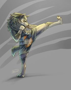 Do It Again - Kickboxing Wolf Link by rosiesinner
